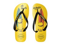 Havaianas Minions Flip Flops Citrus Yellow Black Men's Sandals