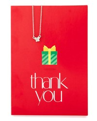Lydell Nyc Butterfly Necklace With Thank You Card Silver