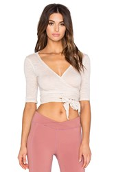 Free People Giselle Wrap Top Blush