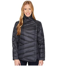 Nau Intersect Down Jacket Caviar Stripe Coat Black