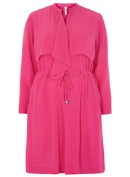 Evans Plus Size Pink Chiffon Trench Jacket