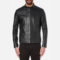 Hugo Men's Lefox Leather Jacket Black