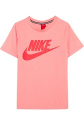 Nike Essential Printed Stretch Jersey T Shirt Blush