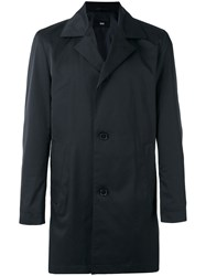 Hugo Boss Single Breasted Coat Blue