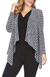 Women's Chaus Tweed Stripe Open Front Cardigan