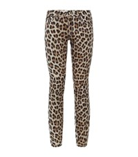 Just Cavalli Leopard Print Skinny Jeans Female Multi