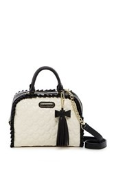 Betsey Johnson Be Mine Faux Leather Dome Satchel White