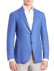 Canali Solid Wool Sportcoat Blue