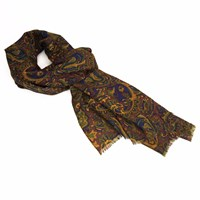 40 Colori Burgundy Ancient Paisley Wool Scarf