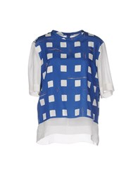 Folk Shirts Blouses Women Blue