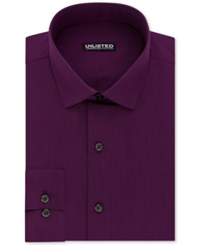 Unlisted Kenneth Cole Men's Slim Fit Solid Dress Shirt Berry