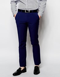 Ben Sherman Plain Suit Trousers Blue