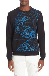 Versace Men's Jeans Embroidered Tiger Sweatshirt