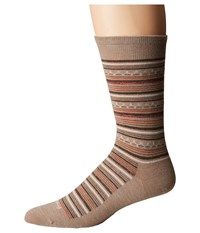 Feetures Santa Fe Ultra Light Crew Sock Oatmeal Crew Cut Socks Shoes Brown