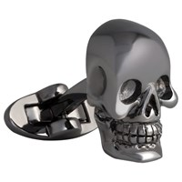 Thomas Pink 3D Skull Cufflinks Grey