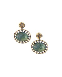Vianna B.R.A.S.I.L 18K Green Tourmaline And Black Diamond Drop Earrings Women's