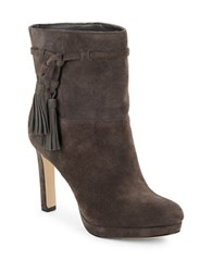 Via Spiga Bristol Suede Platform Ankle Boot Steel Grey