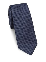 Theory Woven Silk Tie Blue