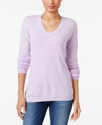 Charter Club Cashmere V Neck Sweater Only At Macy's Larkspur