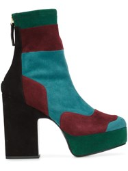 Pierre Hardy Colour Block Platform Ankle Boots