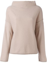 Twin Set Button Up Back Jumper Nude And Neutrals