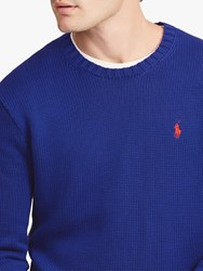 Ralph Lauren Polo Crew Neck Jumper Heritage Royal Blue