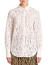 3.1 Phillip Lim Silk Trimmed Lace Shirt Camel Black