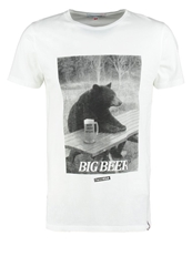 French Kick Big Bear Print Tshirt White