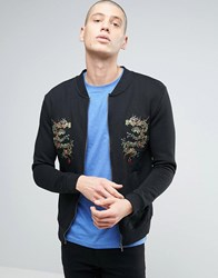 Brave Soul Dragon Sweat Jacket Black