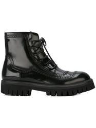 Dolce And Gabbana Broguing Detail Boots Black