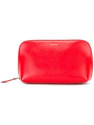 Paul Smith Zip Fastening Clutch Red