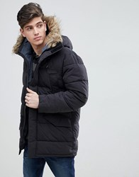 07edc06c9 Man Parka With Faux Fur Hood In Black