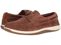 Cole Haan Boothbay Boat Shoe Harvest Brown Nubuck Men's Lace Up Casual Shoes