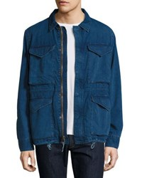 Faherty Denim Military Jacket Indigo