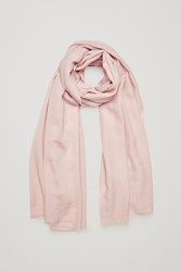 Cos Lightweight Wool Jacquard Scarf Pink