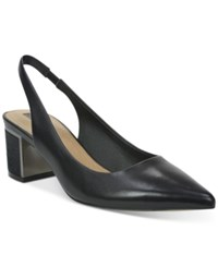 Tahari Roseanne Pointed Toe Slingback Pumps Women's Shoes Black