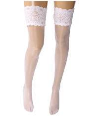 Wolford Satin Touch 20 Stay Up Thigh Highs White Women's Thigh High Socks Shoes