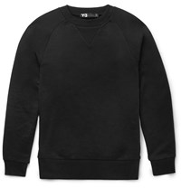 Y 3 Printed Cotton Jersey Sweater Black