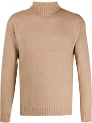 Laneus Rollneck Knit Sweater Neutrals
