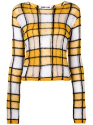 Mcq By Alexander Mcqueen Checked Knit Jumper Yellow And Orange