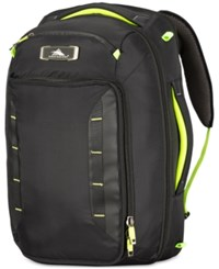 High Sierra At8 Convertible Carry On Duffel Backpack Black