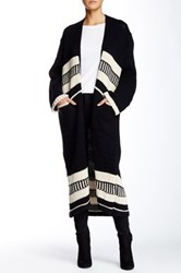 Fate Knit Long Sweater Black