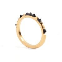 Kasun Crocodile Onyx Ring Gold