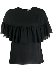 Red Valentino Frilled Tier Top Black