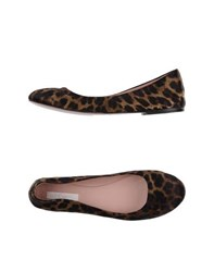 E Go Footwear Ballet Flats Women Dark Brown
