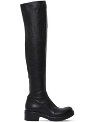 Strategia 30Mm Stretch Leather Over The Knee Boots Black