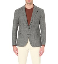 Oliver Spencer Brookes Textured Wool Jacket Dudley Grey