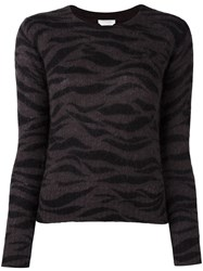 See By Chloe Zebra Print Jumper Brown