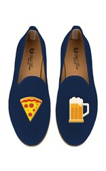 Del Toro M'o Exclusive Beer And Pizza Slipper Navy