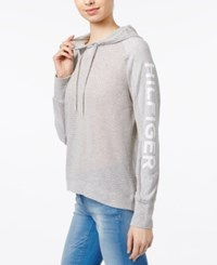 Tommy Hilfiger Mesh Hoodie Only At Macy's Heather